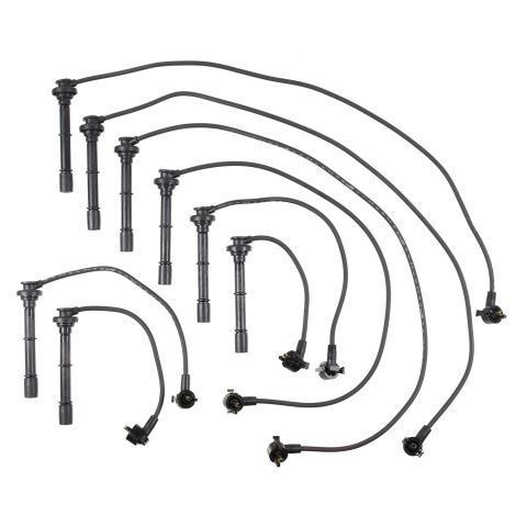 Spark Plug Wire Set 45 Degree Wire Straight Boot 8 Piece